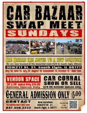 Car Bazaar Swap Meet Sundays 2014