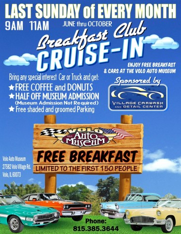 Breakfast Club Cruise-In by Volo Auto Museum