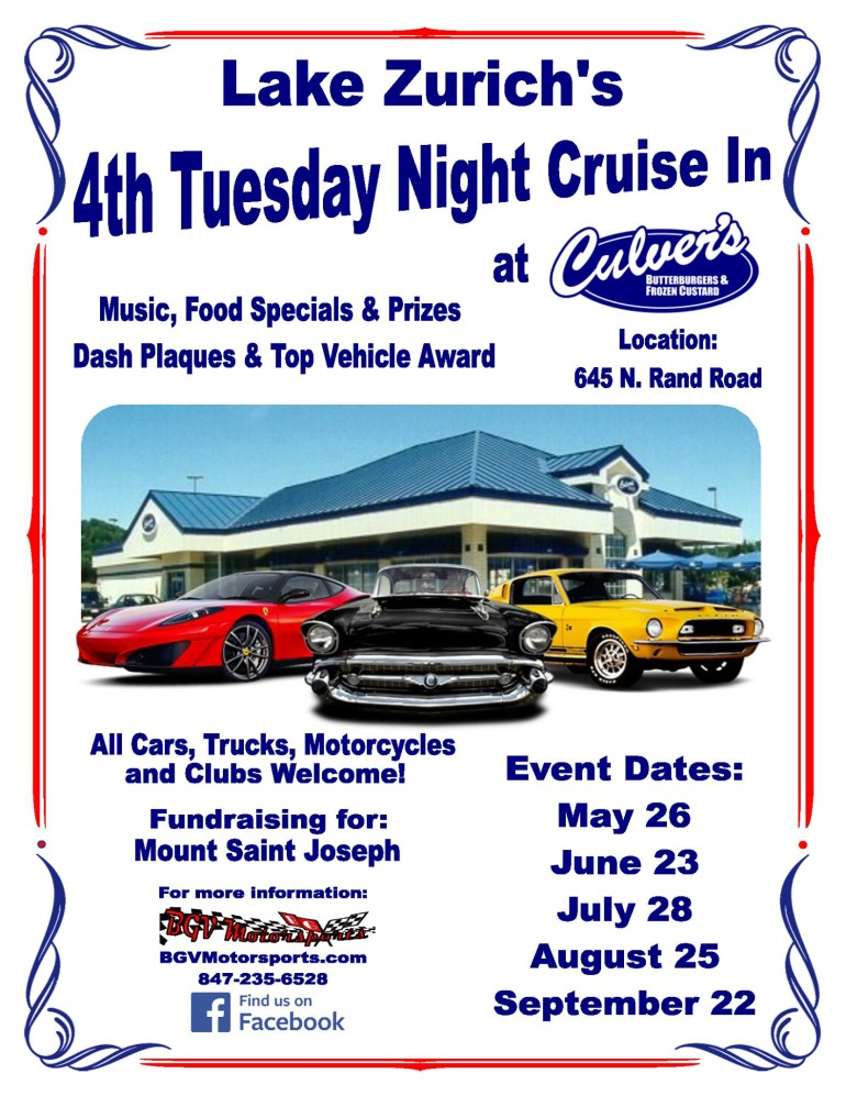Lake Zurich's 4th Tuesday Night Cruise In