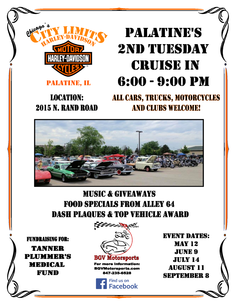 Palatine's 2nd Tuesday Cruise In