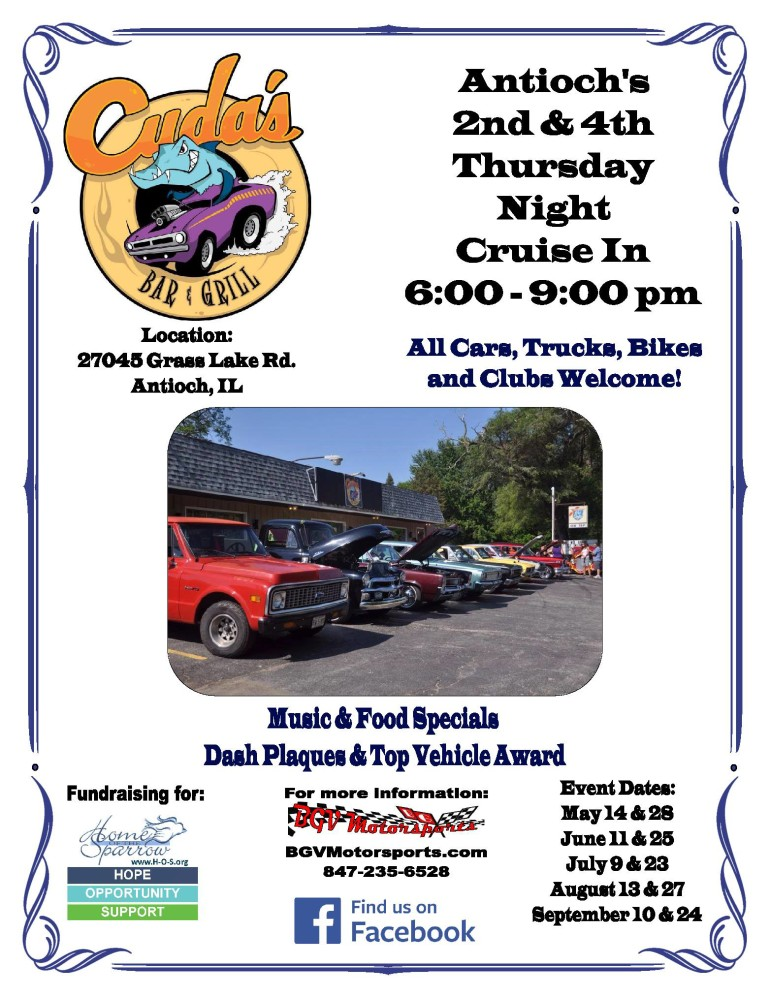 Antioch's 2nd & 4th Thursday Night Cruise In