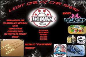 LEGIT DAILYZ CAR SHOW @ PRO Martial Arts Naperville | Naperville | Illinois | United States